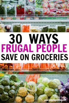 Save money on groceries! Easy tips to cut costs on groceries. Tons of ideas for saving money at the grocery store. If you want to live a frugal live, these tips and tricks will help you save money on food expenses. Great budgeting tips for helping with fo Money Saving Meals, Save Money On Groceries, Ways To Save Money, Money Tips, Save Money On Food, Free Groceries, Money Budget, Frugal Living Tips, Frugal Tips