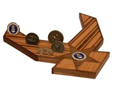 Air Force 24 Challenge Coin Holder by WoodSimplyMade on Etsy, $74.99