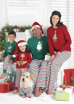 Pajamas on Christmas Eve tradition. Shopping options for kids, women and men