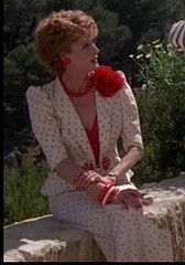 "This outfit! On Maggie Smith, in the film version of ""Evil Under the Sun."" Delicious--as is every single costume in that film."