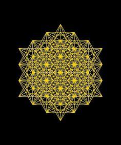 'Expanded Metatron's sacred geometry' by johnnet Sacred Geometry Meanings, Sacred Geometry Tattoo, Flower Mandala, Mandala Art, Framed Prints, Canvas Prints, Art Prints, Fibonacci Spiral, Art Deco Design
