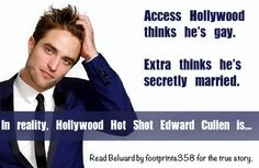 Belward By Banner by FicSisters News Stories, True Stories, Fanfiction Stories, Secretly Married, Access Hollywood, Edward Cullen, Hot Shots, Fan Fiction, Twilight