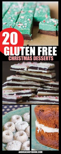 It's time to start baking for Christmas! These gluten free Christmas dessert recipes are delicious! Gluten Free Deserts, Gluten Free Sweets, Foods With Gluten, Gluten Free Cooking, Gluten Free Recipes, Christmas Cooking, Christmas Desserts, Christmas Parties, Christmas Treats