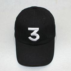 Popular chance the rapper 3 Hat Cap Black Letter Embroidery Baseball Cap Hip Hop Streetwear Strapback Snapback Sun Hat Bone [Affiliate]