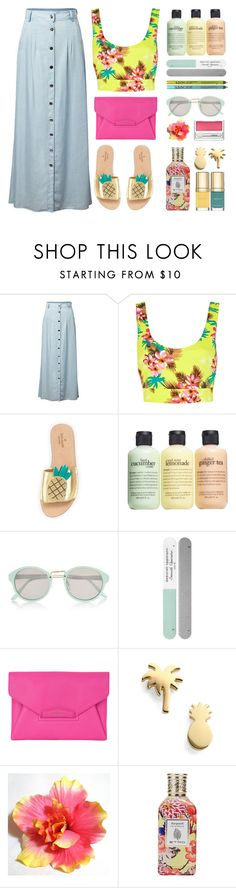 """""""On Tropical Trails"""" by stavrolga ❤ liked on Polyvore featuring Chicnova Fashion, River Island, Kate Spade, philosophy, Deborah Lippmann, Givenchy, Seoul Little, Dolce&Gabbana, NYX and Etro"""