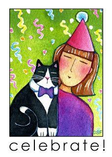 Happy New Year from Tuxedo Cats everywhere