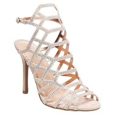 Women's Vienna Cage Front Dress Sandals Blush 9.5 - Tevolio