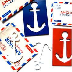 Maple Mountain Editions' anchor paperweight