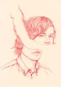 by henrietta harris Kunst Inspo, Art Inspo, Art And Illustration, Love Art, All Art, Art Alevel, Portrait Art, Portraits, The Villain