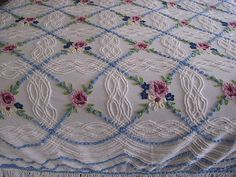 Floral Chenille bedspread