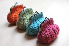 Repeat Crafter Me: Crochet Coin Purse ~~~no pattern on this site but a cute idea.