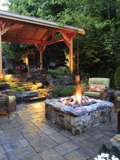 Rustic patio. And if mosquitoes didnt exist here, absolute perfection!