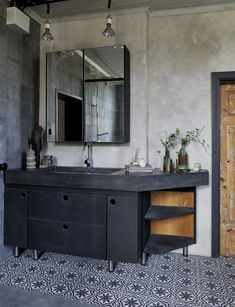 Modern Bathroom present a space of well-being and elegance. Zen Bathroom, Bathroom Colors, Bathroom Sets, Home Decor Styles, Home Decor Accessories, Cheap Home Decor, Luxury Homes Interior, Home Interior Design, Interior Decorating