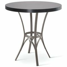 amisco kai bar height table by amisco 44200 custom made pedestal shown in metallo metal finish with a choco laminate topeach amisco table is custom amisco newton regular footboard bed queen