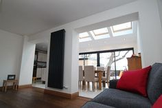 Big rooflights on this home extension ensure the entire room stays well lit