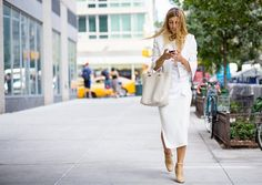 Mix different shades of white and off-white for the perfect day-to-night look.