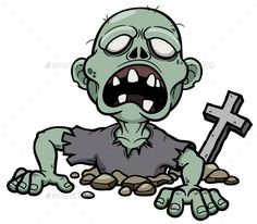 Buy Zombie by SARAROOM on GraphicRiver. Vector illustration of Cartoon Zombie Halloween Images, Halloween Horror, Halloween Art, Vintage Halloween, Halloween Rocks, Zombie Clipart, Zombie Head, Zombie Art, Street Art Banksy