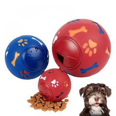 Cheap treat dispenser, Buy Quality dog treat dispenser directly from China puppy chew toys Suppliers: 3 Size Educational Interactive Pet Dog Toys Rubber Ball Puppy Chew Toys Paw Bone Print Dog Treats Dispenser Large Dogs, Small Dogs, Dog Treat Dispenser, Pet Dogs, Dog Cat, Puppy Chew Toys, Dog Feeder, Dog Chews, The Chew