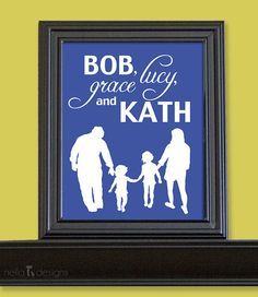 Father's Day Gift  Family Silhouette ©nelladesigns