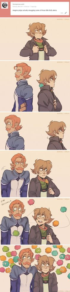 Pidge and Coran