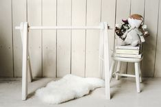 Little Wish white-washed baby gym. Perfect for your minimal household.