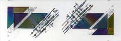 Glaskunst aan de muur: 'Mother's finest' 120 x 40 cm #glaskunst #design #kunst #glasfusing #glassart #wall art #fused glass