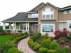 Luxury House Plan with attractive landscaping   Plan 071D-0167   House Plans and More