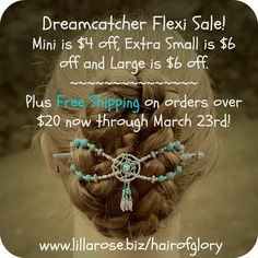 Look at this beautiful #Dreamcatcher Flexi Clip! Up to $6 off Select Sizes. #Free Shipping on $20 orders now through March 23rd.