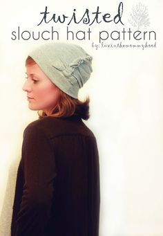 The Twisted Slouch Hat Pattern! Super fun construction & a great beginner sewing with knits project :) (part of the knits stretch yourself series on made by rae)