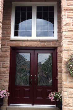 Wrought Iron Steel Door. Vinyl Windows Torotno Vinyl Windows, Windows And Doors, Iron Steel, Steel Doors, Wrought Iron, Steel