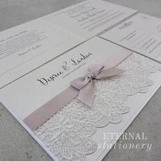 Vintage Wedding Invitation Created by Eternal Stationery www.eternalstationery.com.au