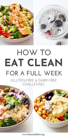 Dairy-Free Gluten-Free Meal Plan and Challenge with healthy and tasty anti-inflammatory recipes to have more energy, feel better and maybe even lose weight! The challenge includes dairy-free and gluten-free recipes for breakfast, lunch and dinner and Gluten Free Meal Plan, Gluten Free Recipes For Breakfast, Free Meal Plans, Whole Food Recipes, Healthy Recipes, Clean Dinner Recipes For Two, Eating Gluten Free, Gluten Dairy Free, Dairy Free Meals