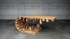 mesa en forma de ciudad