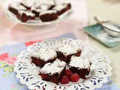Brownies de frambuesas aptos para celiacos | Patricia Gabriel