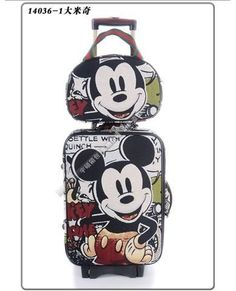 Mickey Mouse Luggage Bag Baggage Trolley Roller Set I want. Walt Disney, Disney Fun, Disney Style, Mickey Mouse Luggage, Disney Luggage, Disney Fanatic, Disney Addict, Mickey Mouse And Friends, Mickey Minnie Mouse