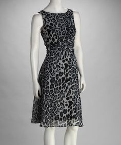 Take a look at this Voir Voir Gray Leopard Dress by Voir Voir & Phase Seven on @zulily today!