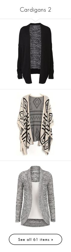 """Cardigans 2"" by musicmelody1 on Polyvore featuring tops, cardigans, jackets, outerwear, sweaters, black, oversized cardigan, relaxed fit tops, colorblock top and color block cardigan"