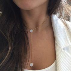Y Polka #Necklace #jewelry #fashion #accessories #trendy #style #beauty #love #moda