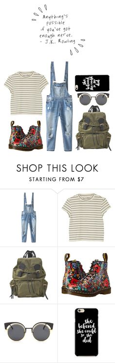 """""""Anything's possible if you've got enough nerve."""" by peregrinetook ❤ liked on Polyvore featuring Relaxfeel, Monki, Burberry, Dr. Martens and Old Navy"""