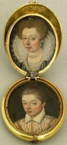 Recently, this stunning 17C Dutch family group was auctioned by Pook and Pook. The estimate was $4500/$6500 but it sold for a hammer price of $11,000.At first glance that may seem expensive, but when one considers that there are eight 17C miniatures for the price of one, contained within a single locket, with hinged leaves   http://new-additions.blogspot.com/2008_01_01_archive.html