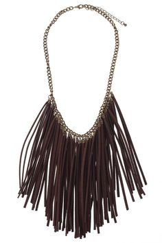 Fringed Charm Necklace    $22.30 #romwe