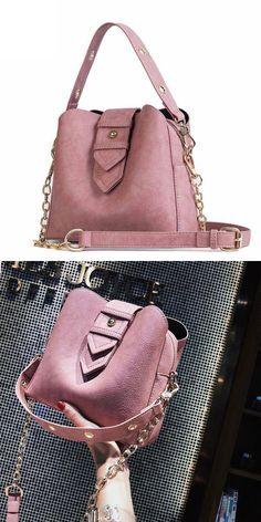 Cheap Elegant Chain Women Soft PU Single Buckle Handbag Shoulder Bag For Big Sale! Black Shoulder Bag, Large Shoulder Bags, Canvas Shoulder Bag, Leather Shoulder Bag, Bow Bag, Small Messenger Bag, Bags For Teens, Shoulder Bags For School, Leather Pouch
