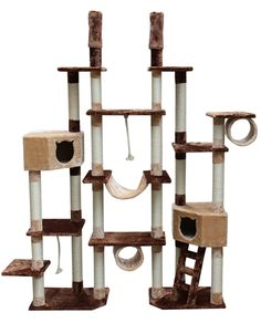 Rome Cat Tree by Kitty Mansions #treecondo - Understanding your cat better at - Catsincare.com!