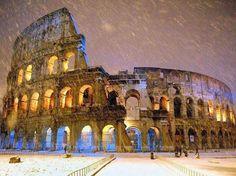 Snow in Rome