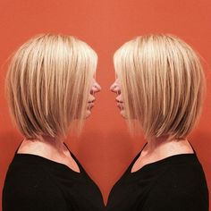 blonde bob with dimensional highlights