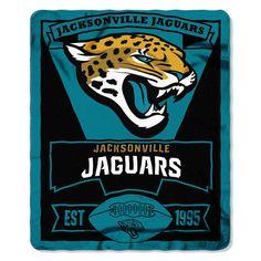 Jacksonville Jaguars NFL Light Weight Fleece Blanket (Marque Series) (50inx60in)