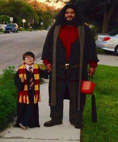 Halloween: Los mejores disfraces para padres e hijos - Rubeus Hagrid y Harry Potter