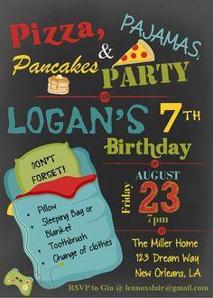 Boy Pizza Pajama & Pancake Party Slumber by LennoxLairDesigns