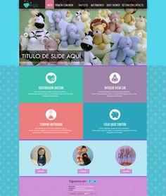 Maqueta de Sitio Web para Momentos Magicos
