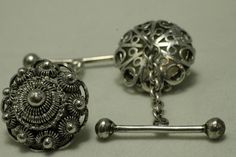 The Antique Ringshop: Silver Dutch Zeeland Cuff Links.